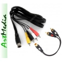 kabel AV Atari XL/XE, Commodore 16, 64, 128 - 1,8m