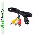 kabel mini DIN 9 PIN - 3 RCA AV Netia Player  0,8 m