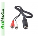 kabel mini DIN 9 PIN - 2 RCA  Audio Netia Player 0