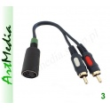 adapter gramofonu DIN-5 545 na 2 wtyki RCA chinch~