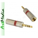 adapter Jack 3,5 /17,5mm 4 PIN polowy wtyk-gn. ST~