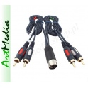 kabel 4RCA chinch - DIN-5 wtyk IN/OUT RADMOR 1,4 m