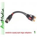 kabel adapter DIN 5 545 wtyk - 2 gniazda RCA OUT
